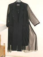 Нарядный костюм - платье по фигуре  и прозрачный плащ Sirius, фото 1