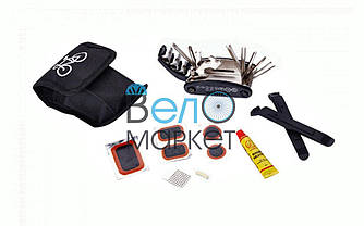 Рем. набор Kenli KL-9809 (монтажные лопатки, шестигранники, ключи, вело аптечка)