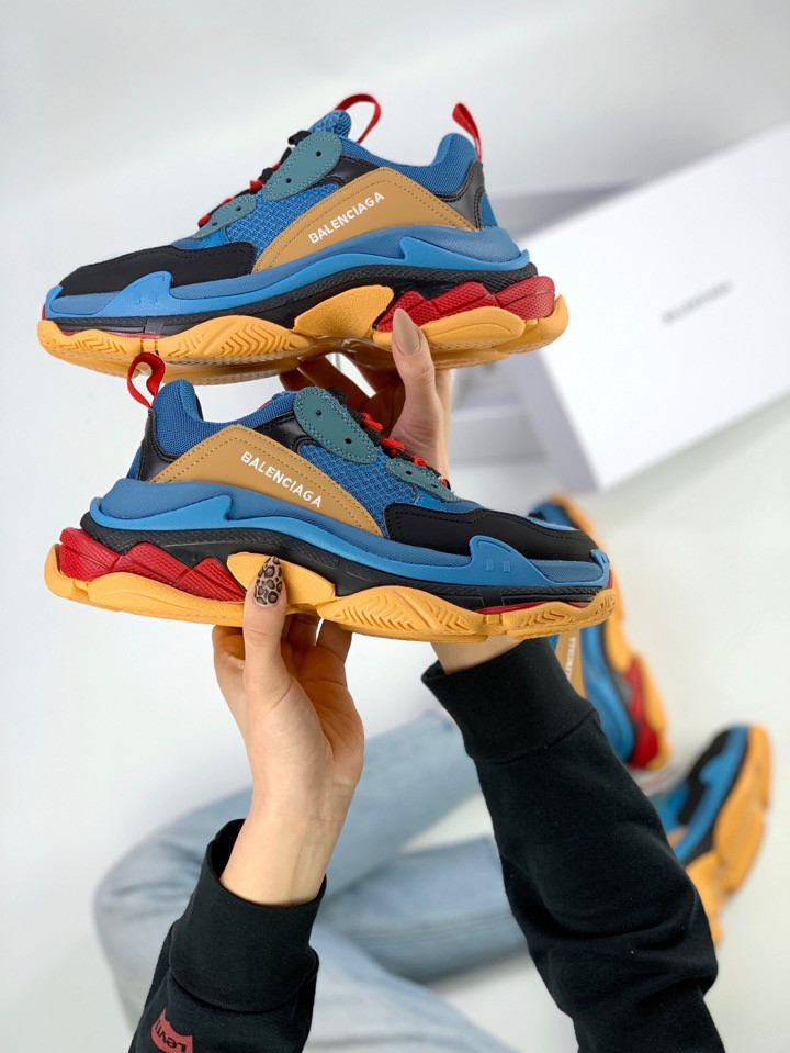 Кроссовки Balenciaga Triple S Blue Orange