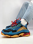 Кроссовки Balenciaga Triple S Blue Orange, фото 4