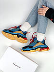 Кроссовки Balenciaga Triple S Blue Orange, фото 5