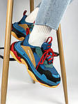 Кроссовки Balenciaga Triple S Blue Orange, фото 9