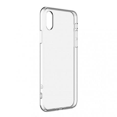 Пластиковый прозрачный чехол для iPhone X/XS