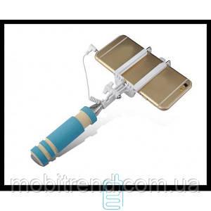 Монопод селфи палка Mini AUX 3.5 синий