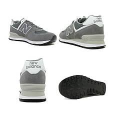 Кросівки new balance 574ESN чоловічі сірий р. 44.5, фото 3