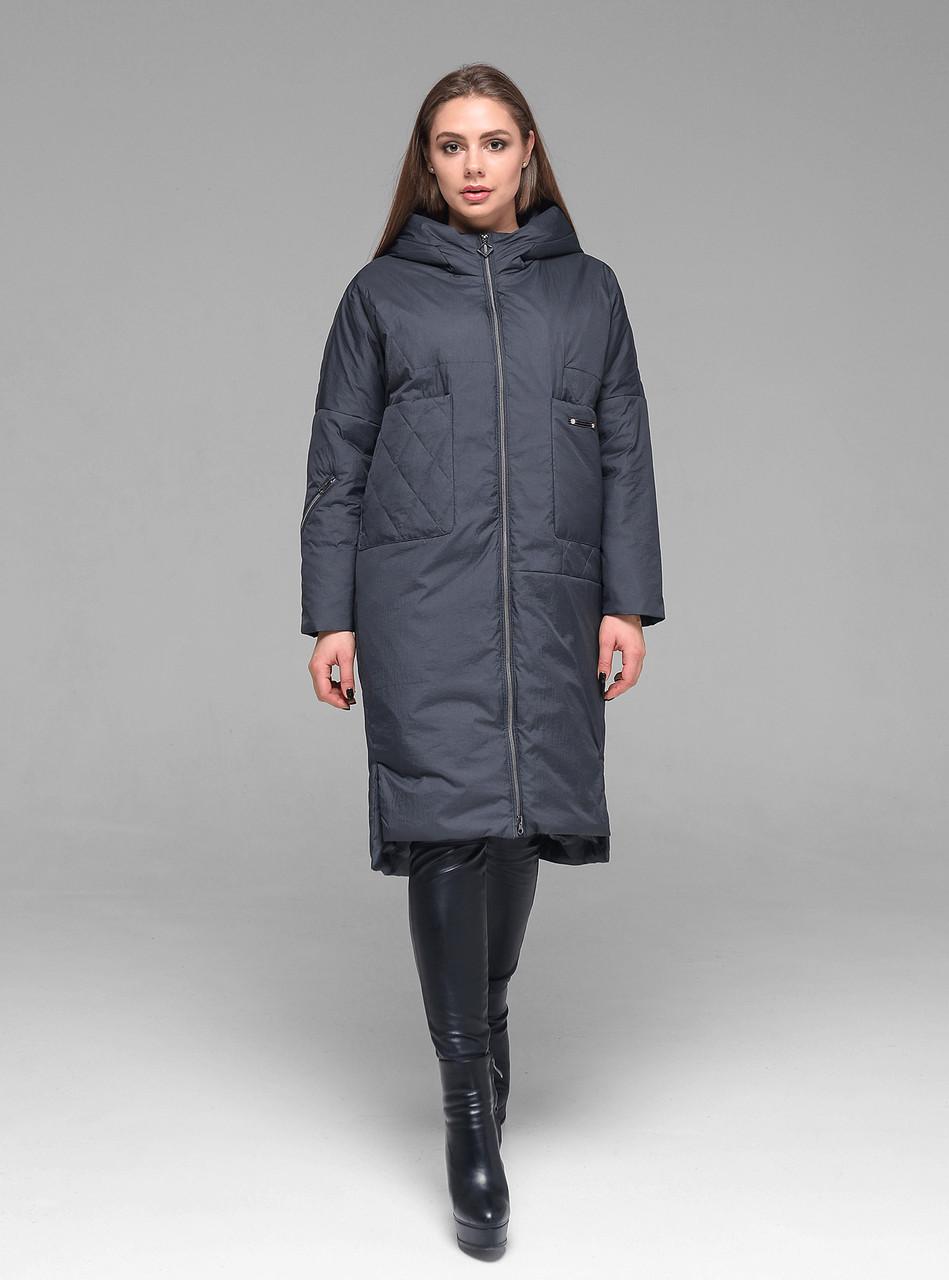 Практичная женская демисезонная куртка CW19C931CW - графитовая - новая коллекция CLASNA 2019