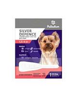 Капли на холку Palladium silver defence от блох,клещей и комаров для собак весом 1.5-4кг