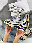 Кроссовки Balenciaga Triple S Violet, фото 3