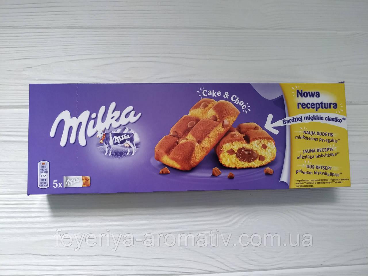 Печенье Milka Cake & Choc 175 г (Швейцария)