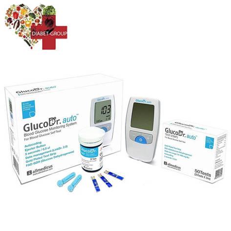 Глюкометр GlucoDr auto + 50 тест полосок, фото 2