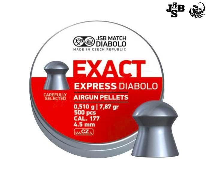 Пули пневматические JSB Diabolo Exact Express 4.52мм 0.51г 500шт