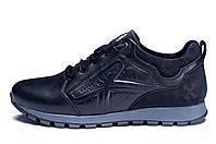 Мужские кожаные кроссовки Kristan Sport black черные, фото 1