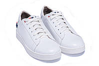 Мужские кожаные кеды FILA Soft White Leather белые, фото 1