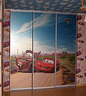 Фасады купе с наполнением фотопечать на стекле для детской комнаты