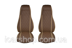 Чехлы на сиденья Scania, оба сиденья с пневматической подвеской
