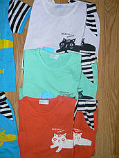 Трикотажні комплекти для дівчаток оптом, Aquamarine, 62-92 р., фото 3