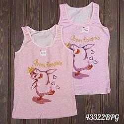 """Майка детская для девочки 6 лет с принтом """"Танцующий пингвин"""" Donella (Турция) 6/7-43322BPG   5 шт."""