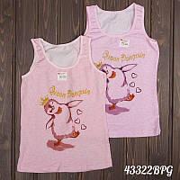"""Майка детская для девочки """"Танцующий пингвин"""" Donella (Турция) 8/9-43322BPG   5 шт."""
