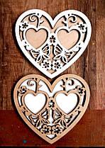 Подставка для Обручальных Колец Сердце 15 см Деревянная Свадебная сердечко підставка для весільних обручок