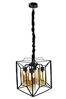 """Люстра потолочная подвесная в стиле """"LOFT"""" (лофт) (50х31,5х31,5 см.) Черный YR-11895/4"""