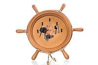 Ключница настенная деревянная ′ Штурвал ′ с кораблем