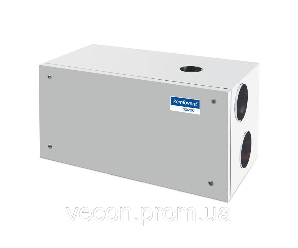Енергоефективна та низькошумна  вентиляційна установка Komfovent  Domekt R 600 H -E з роторним рекуператором