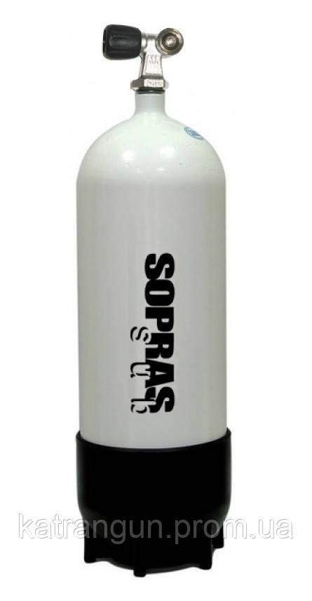 Баллон для дайвинга Sopras Sub 10 литров; 200 Bar; 171 мм - Магазин подводного снаряжения KatranGun — подводная охота, дайвинг, плавание, бассейн, обучение ПО в Киеве