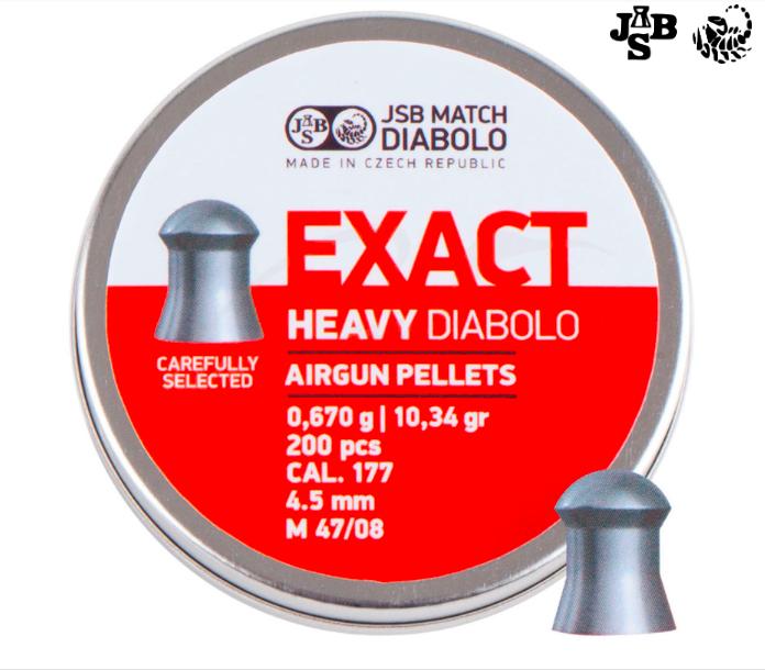 Пули пневм JSB Diabolo Exact Heavy 4.52мм 0.67г 200шт