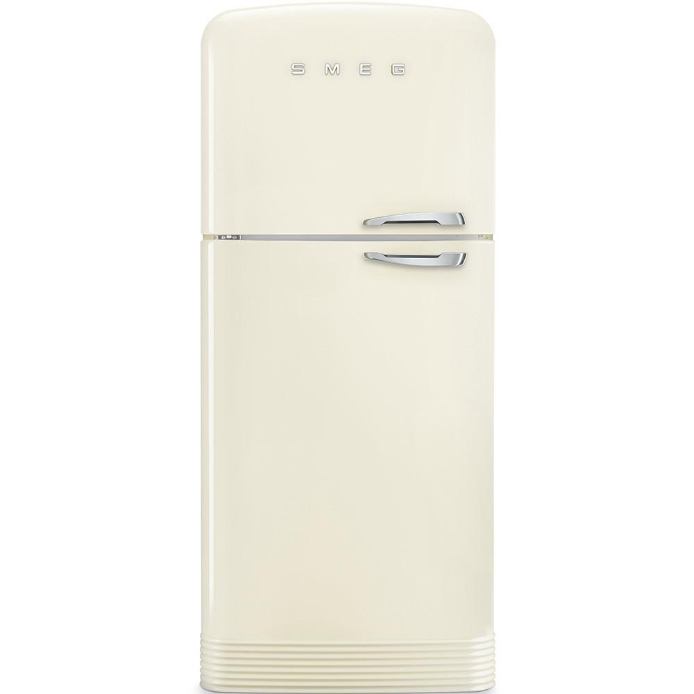 Отдельно стоящий двухдверный холодильник, стиль 50-х годов Smeg FAB50LCR кремовый