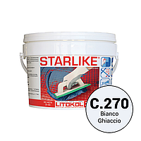 Litokol Starlike Classic Collection С.270 Белый лед 2,5 кг двухкомпонентная фуга для затирки STRBGH02.5