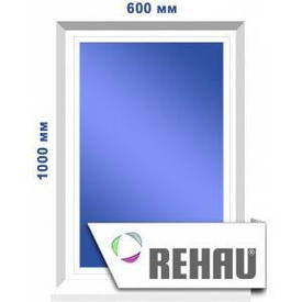 Глухое окно, 600 х 1000 мм