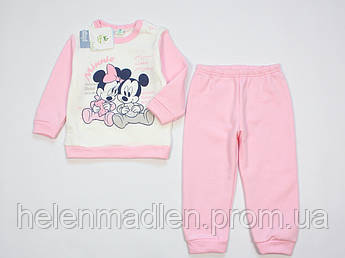 Пижама Ellepi Disney Baby хлопковая теплая для девочки 86 см розовая BI3173