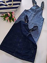 Стильный джинсовый комбинезон сарафан Denim