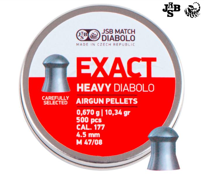 Пули пневматические JSB Diabolo Exact Heavy 4.52мм 0.67г 500 шт