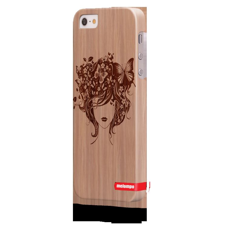 Чехол для iPhone 5/5s Бабочки в волосах