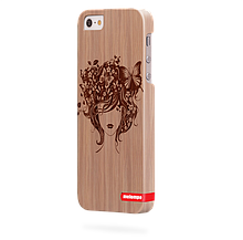 Чохол для iPhone 5/5s Метелики в волоссі