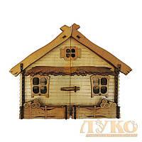 Ключница настенная деревянная «ХАТА» №1 большая