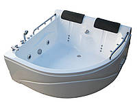 Ванна акриловая гидромассажная угловая KO&PO 007  (1500 х 1500 мм) с декоративной панелью