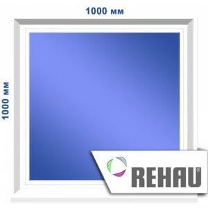 Глухое окно, 1000 х 1000 мм