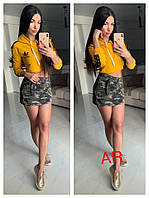 Женская укороченная толстовка AR