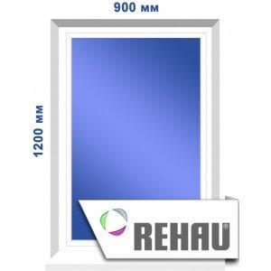 Глухое окно, 900 х 1200 мм