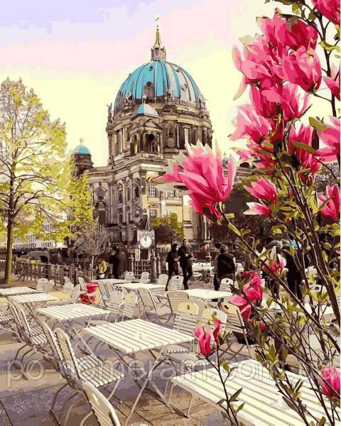 Раскраска для взрослых Берлинский собор (MR-Q2189) 40 х 50 см Mariposa
