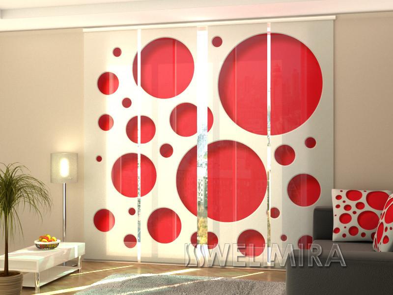 """Панельные Фотошторы """"Красный стиль"""" 240 х 240 см фото шторы штори панельная штора"""