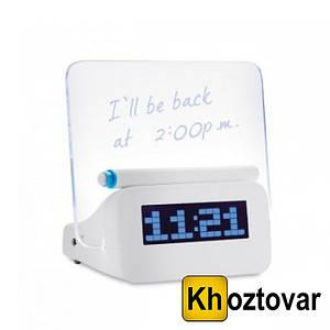 Светящиеся LED часы-будильник | C доской для записей | Hello
