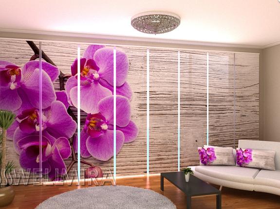 """Панельные Фото штори """"Орхидея и дерево 2"""" 480 х 240 см, фото 2"""