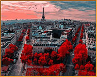 Картина по номерам Babylon Алые краски Парижа (в раме) (NB833R) 40 х 50 см