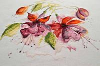 Набор для вышивки крестом Бесподобной красоты цветы. Размер: 40*35,6 см