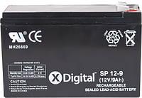 Аккумулятор к UPS 12V 9Ah X-DIGITAL SP12-9
