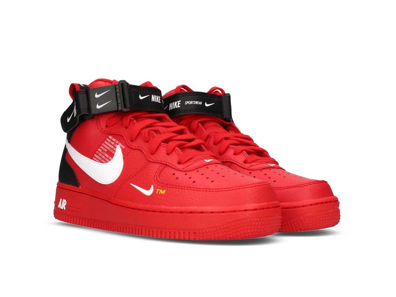 Кроссовки Nike Air Force 1 TM Red, красные