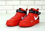 Кроссовки Nike Air Force 1 TM Red, красные, фото 4